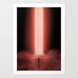 Marching into the unknown Art Print