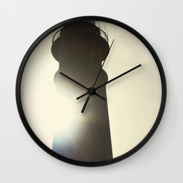 Morning Sun Behind the Ponce De Leon Lighthouse Wall Clock