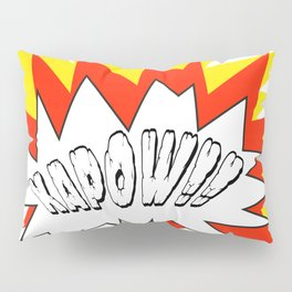 Comic with the write Kapow!! - Vector Pillow Sham