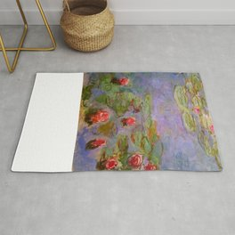 "Claude Monet ""Red Water Lilies"", 1919 Rug"