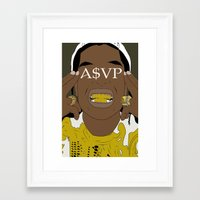asap rocky Framed Art Prints featuring ASAP Rocky by ashakyetra
