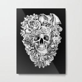 Happy Halloween Skull Metal Print