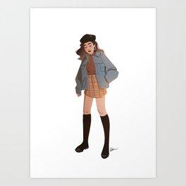 Miss October Art Print