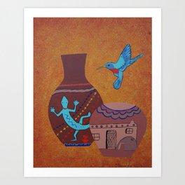Hopi Pueblo Pottery Vases. Art Print