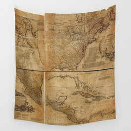 Map of North America (1752) Wall Tapestry