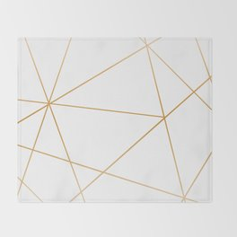 geometric gold and white Decke