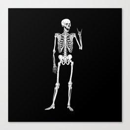 Rock Star Skeleton Canvas Print
