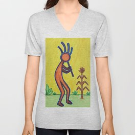 Kokopelli Unisex V-Neck