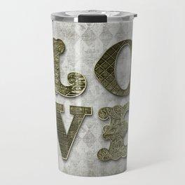 Vintage Green Love Travel Mug