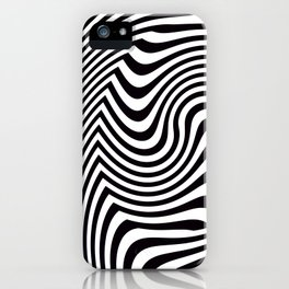 Black and White Pop Art Optical Illusion iPhone Case