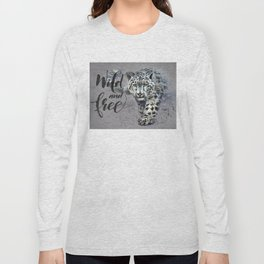 Snow leopard Wild and Free Long Sleeve T-shirt