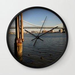 NYC East River | Manhattan Bridge Wall Clock