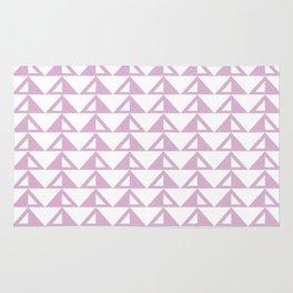 Lavender Triangle Pattern Rug