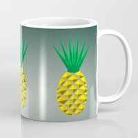 pineapple Mugs featuring Pineapple by mailboxdisco