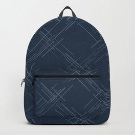 Cross Hatch in Blue Backpack