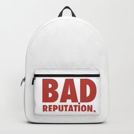 BAD REPUTATION. (Red) Backpack