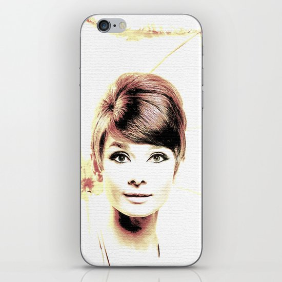 LOVELY AUDREY iPhone & iPod Skin