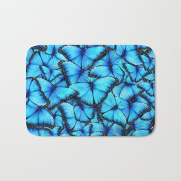 Peace of the Blue Butterfly Bath Mat