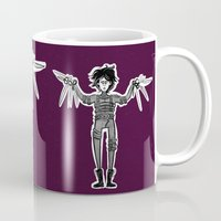 edward scissorhands Mugs featuring Edward Scissorhands by Mermelada de Sesos