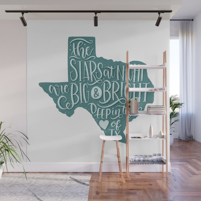 Heart of Texas Wall Mural