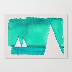 Watercolor Tipi 3 Canvas Print