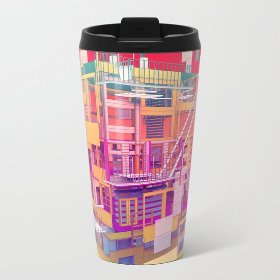 Building Clouds Metal Travel Mug