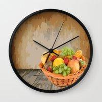 fruit Wall Clocks featuring fruit by Shea33