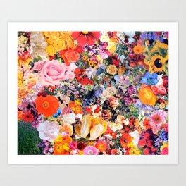 Garden Variety collage art Art Print
