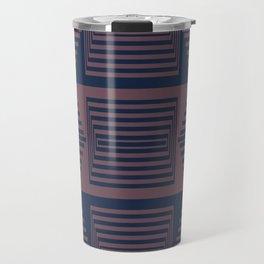 Bicolor Geometric I Travel Mug