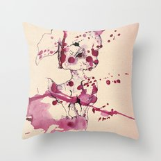 Spotted kitty fawn Throw Pillow