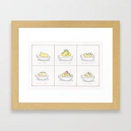 Deviled Egg Options Framed Art Print