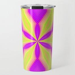Purple and Green Travel Mug