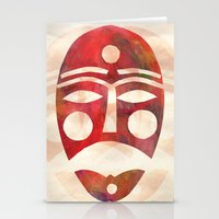 mask Stationery Cards featuring Mask by Hayley Wells