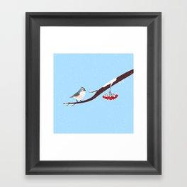 AFE Bird on a branch Framed Art Print
