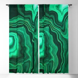Emerald Marble Blackout Curtain
