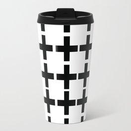 White Plus Black - Geometric illustration Travel Mug