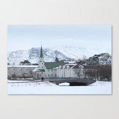 Long Blue Winter Canvas Print