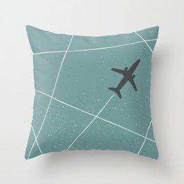 The Jet Set - Lagoon Blue Throw Pillow