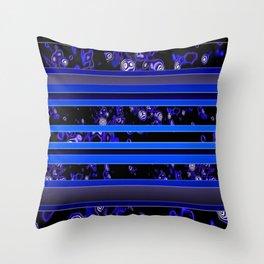 Organic Stripy (ultramarine) Throw Pillow