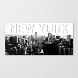 New York Black & White Sketch Canvas Print