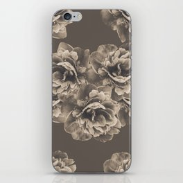 Sepia Peony Flower Bouquet #1 #floral #decor #art #society6 iPhone Skin