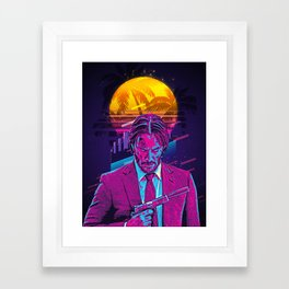 John Wick retro art Framed Art Print