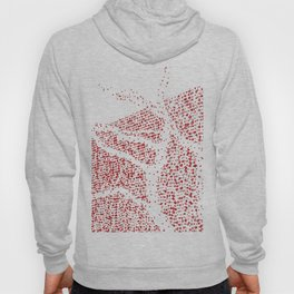 Shape of red trees with garland lights Hoody