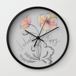 Icelandic Poppy Wall Clock