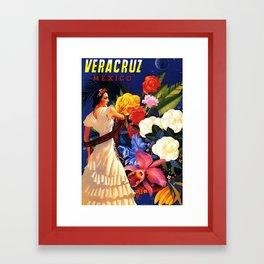 Veracruz Travel Poster Framed Art Print