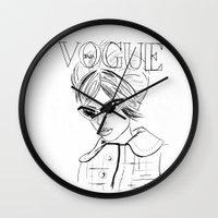 vogue Wall Clocks featuring Vogue Italia by Bella Harris