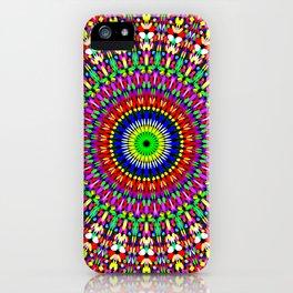 Vibrant Flower Garden Mandala iPhone Case