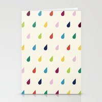 xbox Stationery Cards featuring Raindrops by Cute Cute Cute