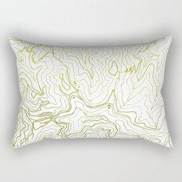 Secret places I - handmade green map Rectangular Pillow