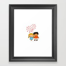 Sweet Valentine Framed Art Print